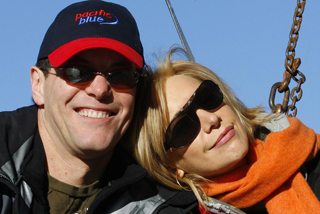 Simon Dallow and Alison Mau split in June 2009 (NZPA)
