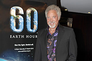 Tom Jones was at the launch of Earth Hour (WWF)