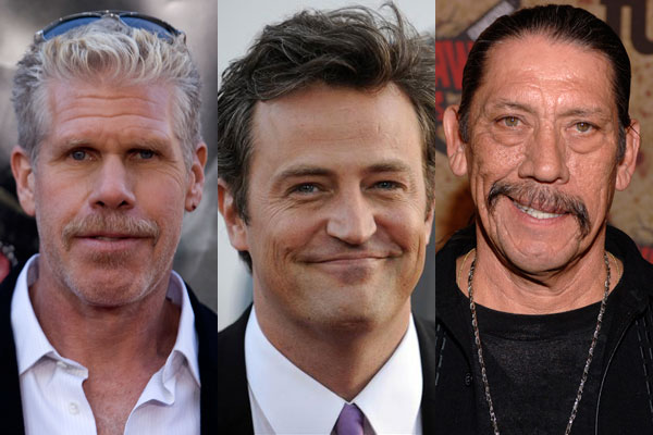 Ron Perlman, Matthew Perry and Danny Trejo (Reuters images)