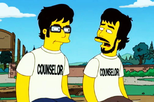 Jemaine Clement and Bret McKenzie animated in The Simpsons