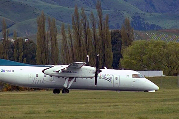 The Air Nelson Q300 plane - which is a subsidiary company of Air New Zealand - experienced a nose wheel failure last year