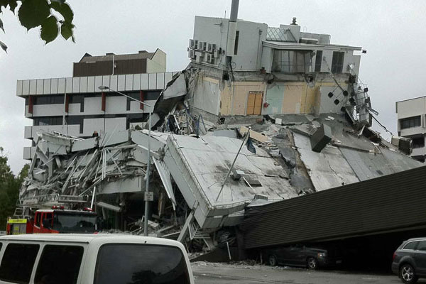 Pyne Gould's head office was severely damaged in the quake, 10 staff are unaccounted for