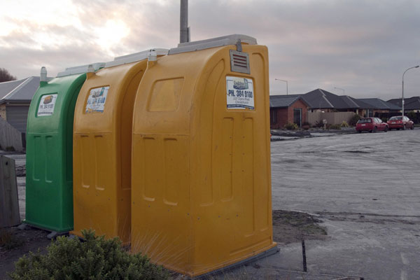 Cantabrians are turning to smaller chemical toilets instead of portaloos(NZPA)
