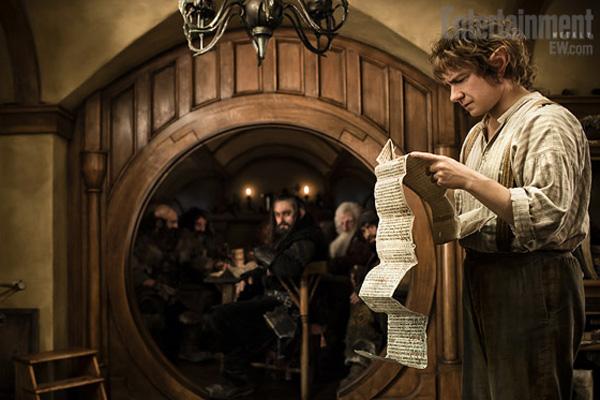 Martin Freeman as Bilbo in The Hobbit