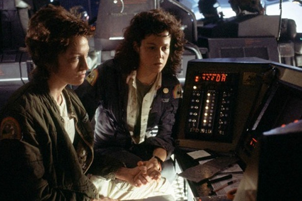 Veronica Cartwright and Sigourney Weaver in Alien