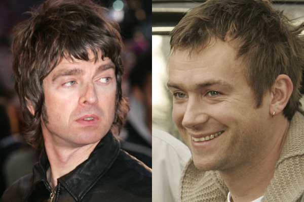 Noel Gallagher and Damon Albarn (Reuters images)