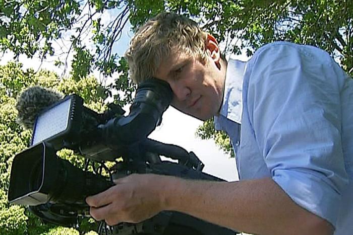 Freelance cameraman Bradley Ambrose