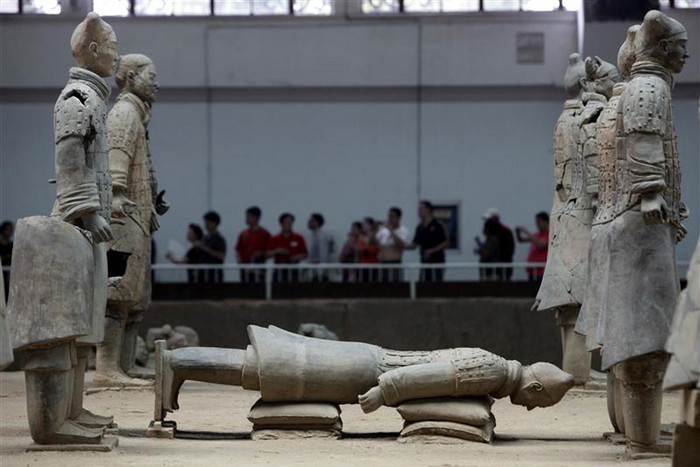 A display inside the Museum of Qin Terracotta Warriors and Horses, on the outskirts of Xi'an (Reuters)
