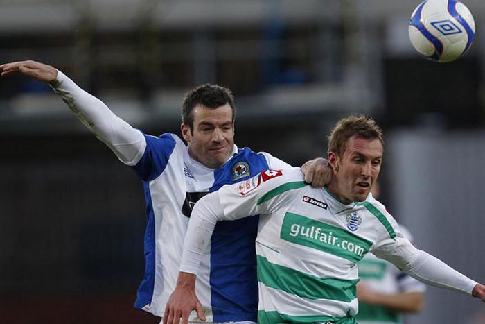 Blackburn's Ryan Nelsen, left