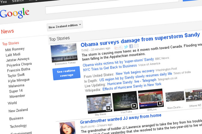 News outlets want Google charged for linking to stories