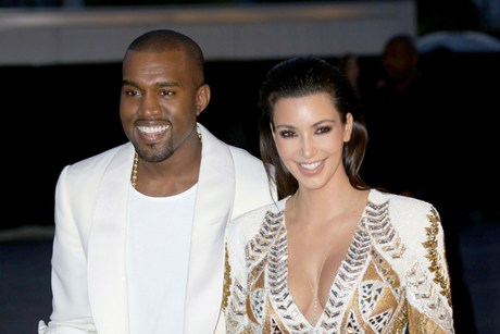 Kanye West and Kim Kardashian  (AAP)