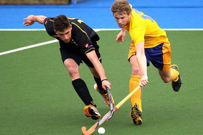 Capital's Jacob Shaw, left, has been given the call up to the Black Sticks (Photosport file)