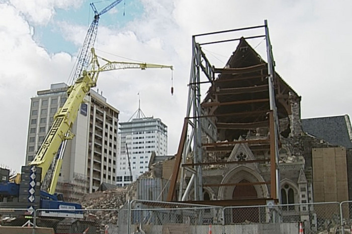 Some demolition of the cathedral was done in May
