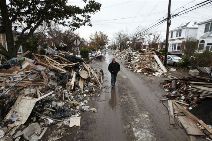 A street in Belle Harbor, where the Volunteer Army will be based (Reuters)