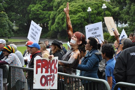 Numerous anti-fracking protests have been held at Parliament over the last two years (photo: file)
