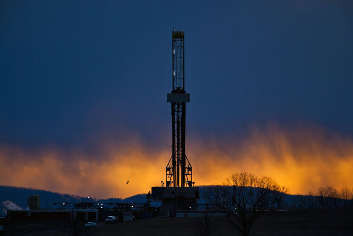 A fracking rig in Pennsylvania, US (AAP)