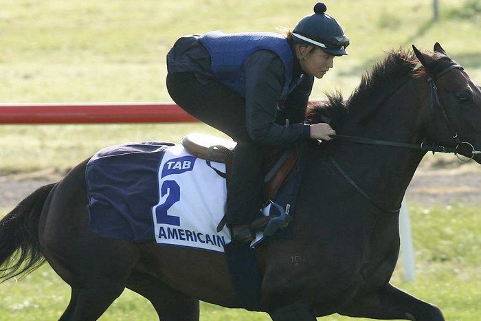 Stephanie Nigge and French racehorse Americain (AAP file)