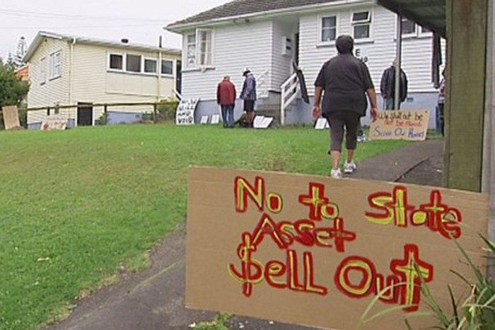 State house tenants have been protesting plans to redevelop homes in Glen Innes