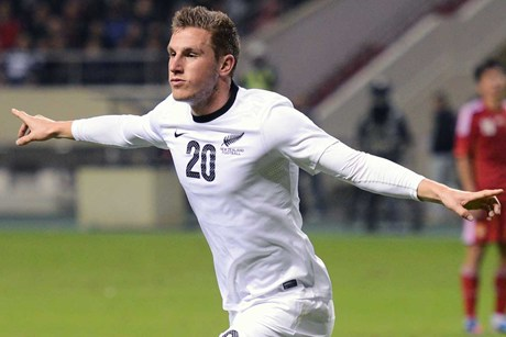 All Whites striker Chris Wood (file pic)