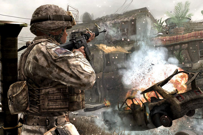 A scene from a game in the Call of Duty series