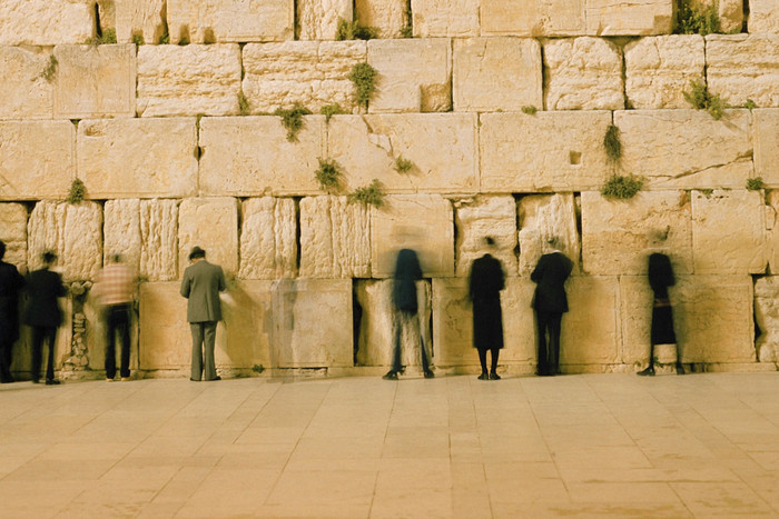 Worshippers at the Western Wall