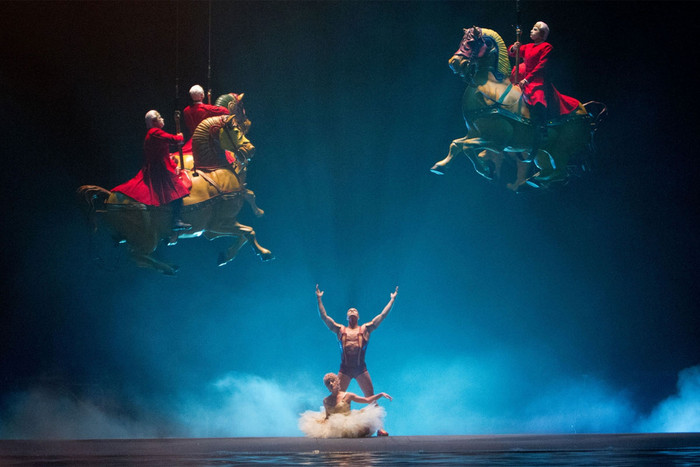 Still from Cirque du Soleil: Worlds Away