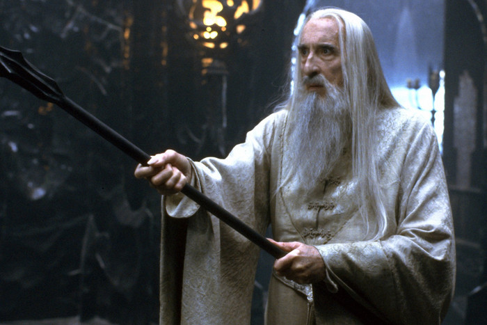 Sir Christopher Lee as Saruman in The Lord of the Rings - The Fellowship of the Ring