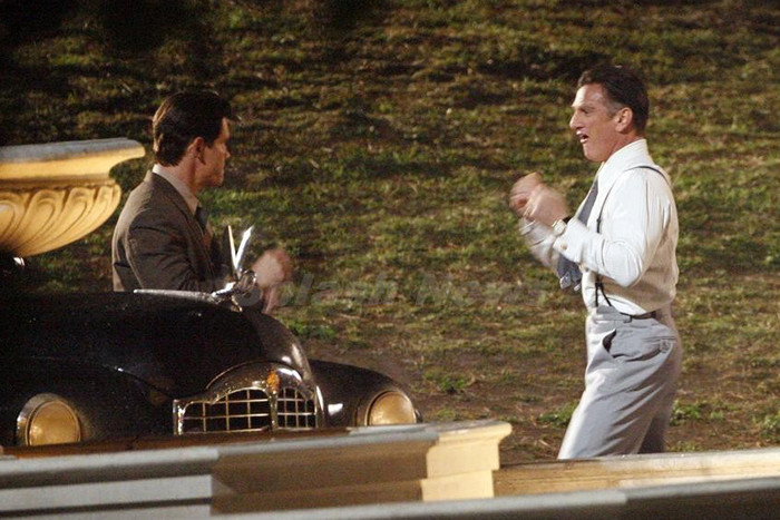 Josh Brolin and Sean Penn in a fight scene from Gangster Squad