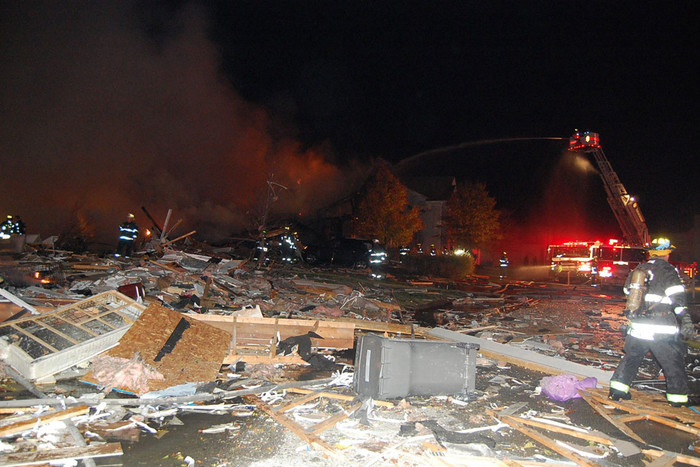 The scene of the explosion (AAP)