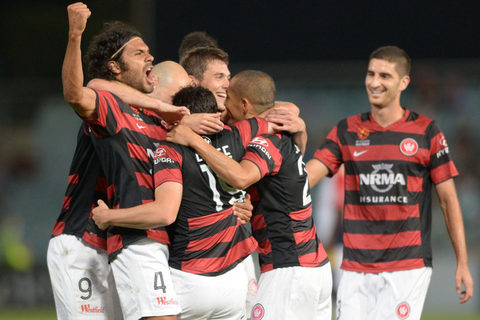 Western Sydney Wanderers celebrate (AAP)