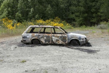 The vehicle was found burnt-out on a North Canterbury river bed