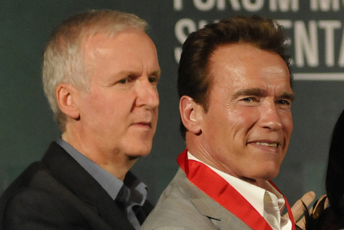 James Cameron and Arnold Schwarzenegger (Reuters)