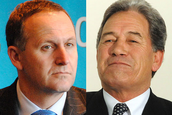 PM John Key, NZ First leader Winston Peters