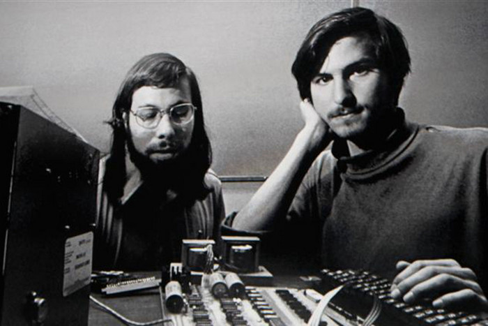 Steve Wozniak with Steve Jobs (Reuters)