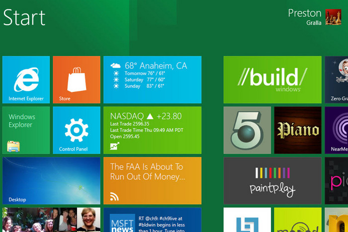 Preview of Windows 8