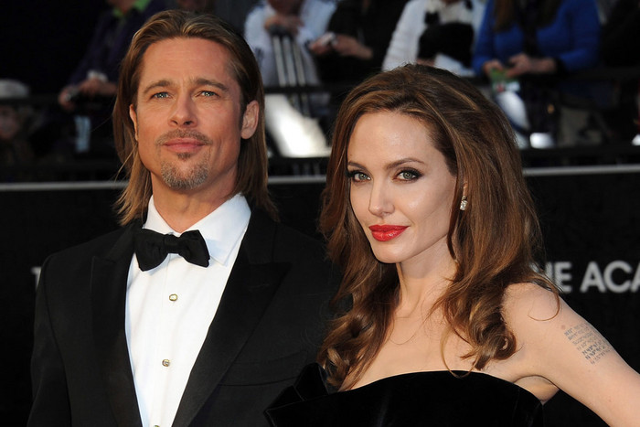 Brad Pitt and Angelina Jolie (AAP)