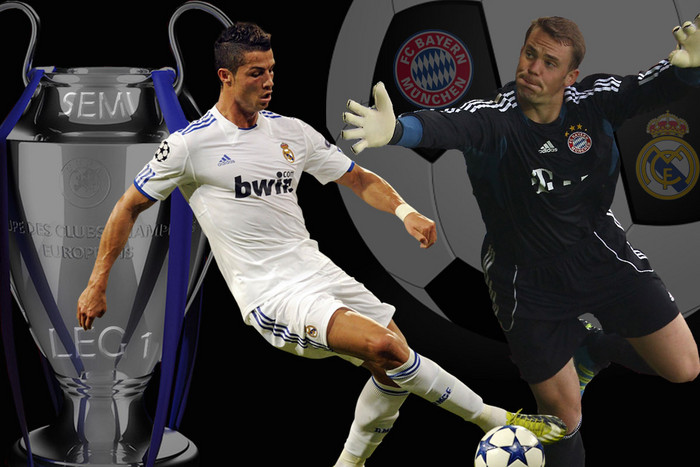 A tantalising start to the Champions League seminfinals for 2012 with Bayern Munich hosting Real Madrid