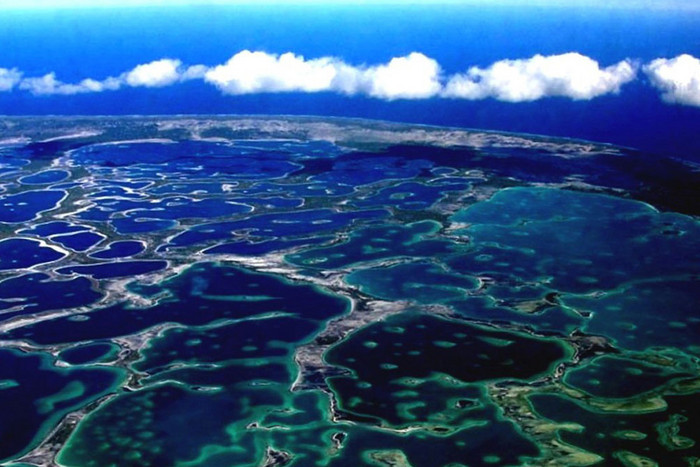 An aerial view of Christmas Island, Kiribati (AAP)