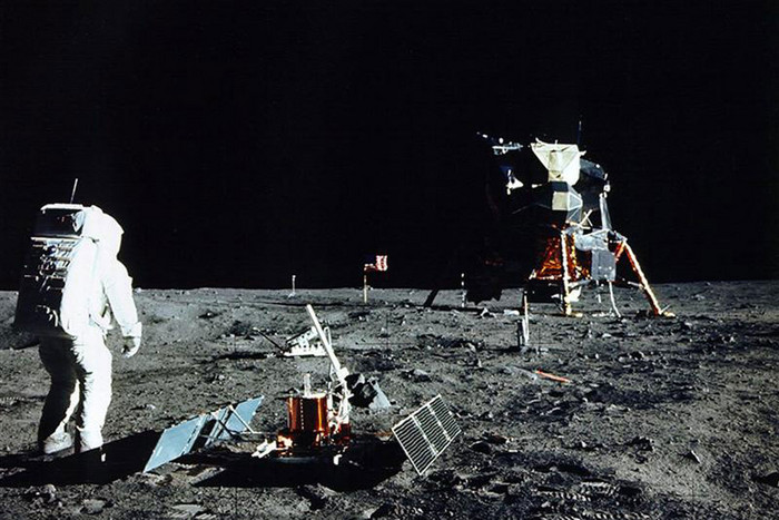 Astronaut Edwin Aldrin Jr on the moon (Reuters)