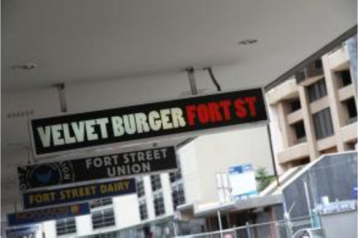 Velvet Burger on Fort St in Auckland CBD
