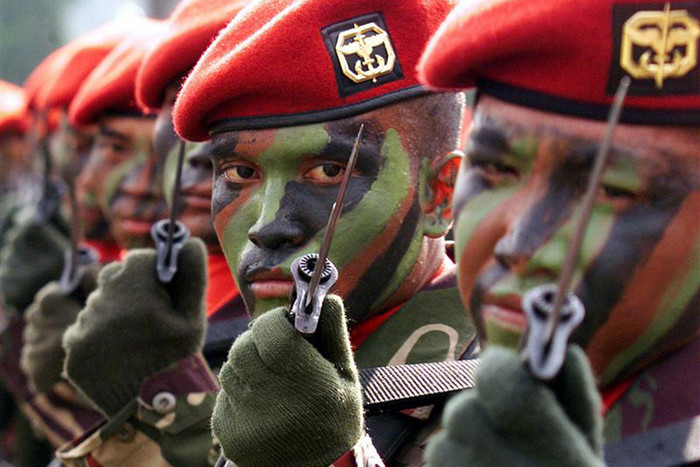 Indonesian soldiers from the Special Force Command – known as Kopassus (Reuters file)