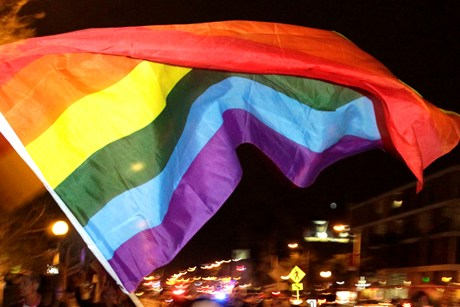 Public opinion is shifting in favour of gay marriage  (file pic)