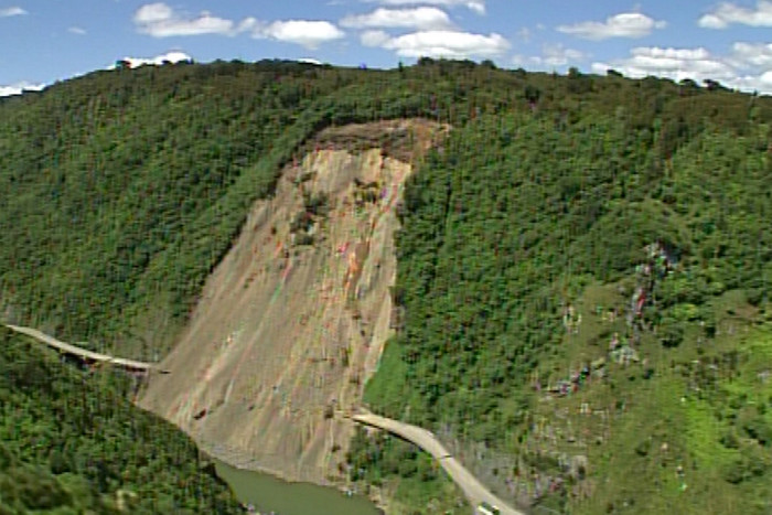 A series of slips closed Manwatu Gorge a year ago