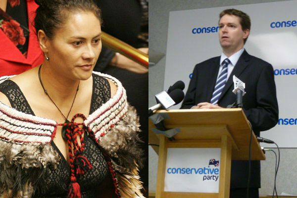 Louisa Wall and Colin Craig