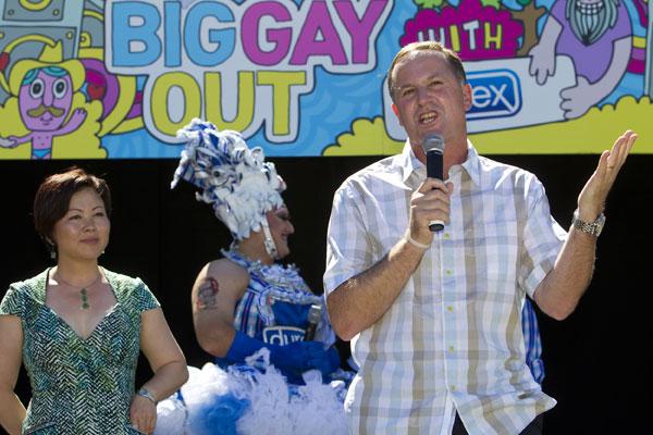 John Key at the Big Gay Out