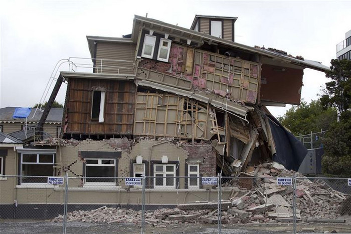 Property destroyed in one of the quakes