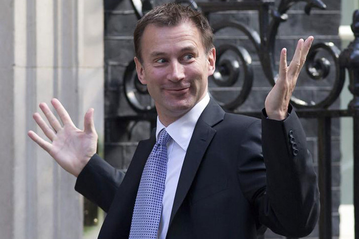 Newly assigned Health Secretary Jeremy Hunt (Reuters)