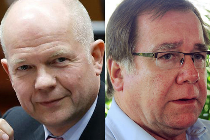 British Foreign Secretary William Hague and New Zealand Foreign Affairs Minister Murray McCully (Reuters/file)
