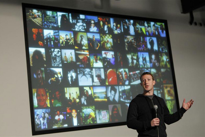 Zuckerberg speaks during a media event at the company's headquarters (Reuters)