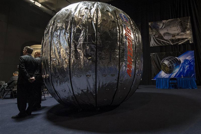The Bigelow Expandable Activity Module shown at Bigelow Aerospace in Las Vegas, Nevada (Reuters)